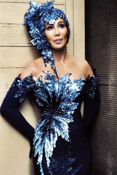 Dazzling Cher's outfit.