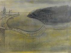 Porthleven, 1951-86, pencil & gouache/paper Wilhelmina BArns-Graham