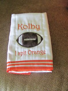 Custom Baby Boutique Tennessee Burp Cloth by KutieB on Etsy, $11.00