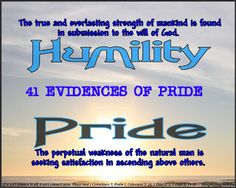 41 Evidences of Pride