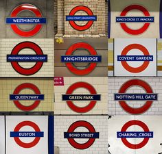 Stations - London underground station signs by What has been seen, cannot be unseen!, via Flickr