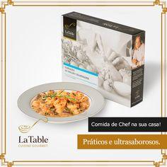 Economize e seja prático utilizando a comida congelada e os produtos La Table. Uma refeição congelada é mais barate e prática do que ir ao restaurante.