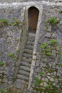 Mysterious Entrance, Kilkenny Castle, Ireland...I think I know these steps! I think they lead up from the moat!