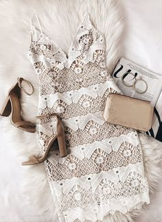 Every sway will be simply stunning in the Sway Away White Crochet Lace Dress! This stunning crochet lace dress has adjustable spaghetti straps and scalloped detail. Classy Outfits, Cute Outfits, Trendy Outfits, Crochet Lace Dress, Dress Lace, White Dress, Crocheted Lace, Satin Dresses, Dance Dresses