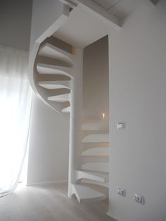Spiral Stairs Design, Spiral Staircase, Staircase Design, Staircases, Space Saving Doors, Space Saving Staircase, Loft Design, House Design, Stairs And Doors