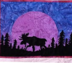Quilt Patterns with North woods flair, Quilts with bears and moose ... : moose quilt pattern - Adamdwight.com