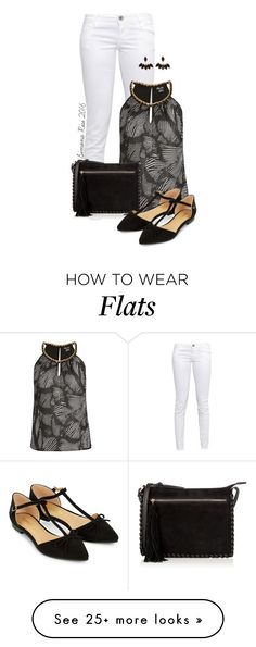 """""""Black Flats"""" by simona-risi on Polyvore featuring GUESS, City Chic, Oasis and Accessorize"""