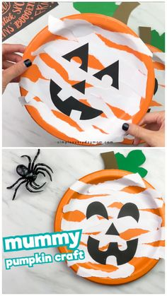 fall crafts for kids preschool This paper plate pumpkin craft for kids is a simple and quick Halloween craft they'll love. Great for toddlers, preschool and kindergarten ch Quick Halloween Crafts, Halloween Art Projects, Halloween Crafts For Toddlers, Toddler Halloween, Halloween Crafts For Kids, Toddler Crafts, Diy Crafts For 1 Year Old, Fall Crafts For Preschoolers, Quick Crafts
