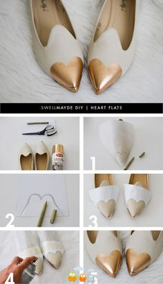 Rose gold shoe tips... how about jazzing up a pair of old pumps?