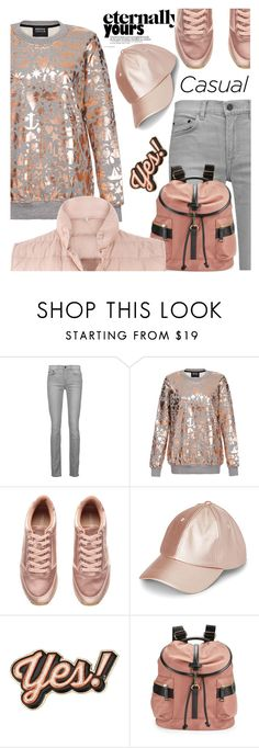 """""""Sweatshirt"""" by samketina ❤ liked on Polyvore featuring Proenza Schouler, Markus Lupfer, Simons, Anya Hindmarch, Calvin Klein and Moncler"""