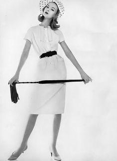 Nena von Schlebrugge, photo by Karen Radkai, Vogue, May 1, 1959 | flickr skorver1