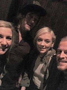 Norman Reedus and Emily Kinney with fans at Eddie's Attic in Decatur on May 21th, 2015