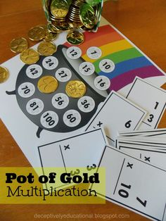 Relentlessly Fun, Deceptively Educational: Free Printables : Pot of Gold : Multiplication