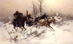 jozef brandt | Escape in Winter by Józef Brandt | Res Publica