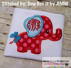 Elephant 36 Applique - 4 Sizes! | Featured Products | Machine Embroidery Designs | SWAKembroidery.com