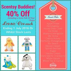 ** SCENTSY BUDDY SALE **  Be quick, these gorgeous scented soft toys will sell fast!!  Send me a message to order! Next order going in tomorrow so be quick.  https://scentedsecrets.scentsy.co.uk/Buy/Category/3213  #scentsybuddy #scentsysale #earlychristmasshopping #scentedsecrets #scentsyuk