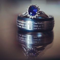 Titanium base ring with micro engraving. We engraved the whole of the Lord's Prayer onto the ring.