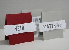 Platzkarte für die Hochzeit