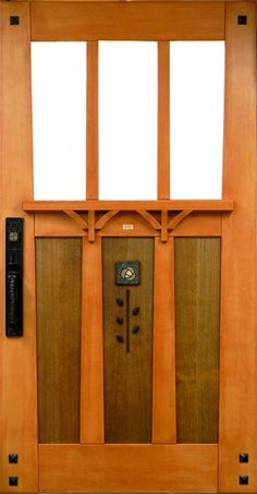 bungalow entrance door, complete with the iconic Mackintosh rose emblem - Amim, Readers Gallery - Fine Woodworking