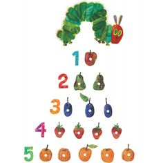 The Very Hungry Caterpillar Numbers Wall Stickers - Room Decor ...