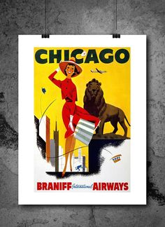 Chicago Woman Travel Poster Print 8x10 Print. Chicago Woman Travel Poster Print 8x10 Print - HIGH QUALITY PRINTS - Focusing on making quality prints for the Home & Office. Introducing Our : Vintage Travel Collection -This 8x10 print is Ready-To-Frame and will fit perfectly in any Frame with Mat when delivered. BEAUTIFUL WALL ART: Our posters provide daily inspiration, beauty, tranquility and are the perfect choice for the office, dorm room, classroom or home. READY TO FRAME: These 8x10...