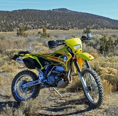 Suzuki offers a range of dual-sport motorcycles to best fit the individual riders skill level and needs. Suzuki Dirt Bikes, Enduro Motorcycle, Sport Bikes, Sport Motorcycles, Motocross Bikes, Used Bikes, Racing Seats, Dual Sport, Touring Bike