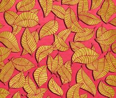 Sylvain Combe - Golden tree leaves pink