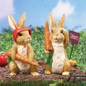 Easter Bunny on Garden Patrol Statue