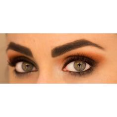 Fall Makeup Trend to Try Orange Eye Shadow Divine Caroline ❤ liked on Polyvore featuring makeup, eyes, beauty, eye makeup and make