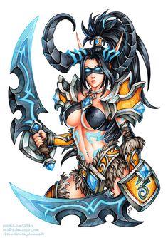 ArtStation - Demon Hunter Valeera, Candra Gloomblade