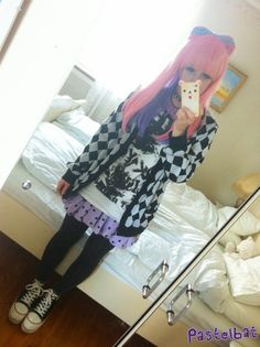I changed clothes before going into town didn't feel like wearing pastels out on town today ;v;
