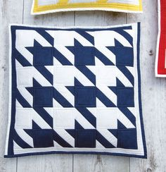 Houndstooth Cushions from Popular Patchwork magazine Feb 16