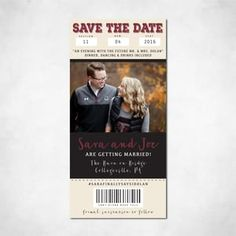Save the Date ticket stub