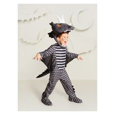 Baby Boys  Dark Dragon Halloween Costume 18-24M - Hyde and Eek! Boutique 08d109196bb2