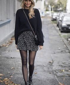 140 delicate black winter outfit ideas for women - 140 delicate black winter or . - 140 delicate black winter outfit ideas for women to try 140 delicate black winter outfit ideas for - Winter Fashion Outfits, Fall Winter Outfits, Look Fashion, Autumn Fashion, Womens Fashion, Winter Outfits With Skirts, Fall Skirt Outfits, Autumn Aesthetic Fashion, Ootd Winter