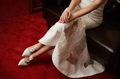 Bridal Shoes, Wedding Shoes, High Low, Formal Dresses, Fashion, Bride Shoes Flats, Bhs Wedding Shoes, Dresses For Formal, Moda
