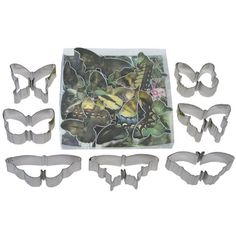 7 pc butterfly cookie cutter set L1922 *** Instant Savings available here : Baking Accessories