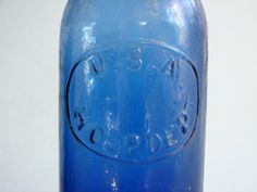 civil war medicine bottles | Hosp. Dept. Cobalt Blue Oval Bottle