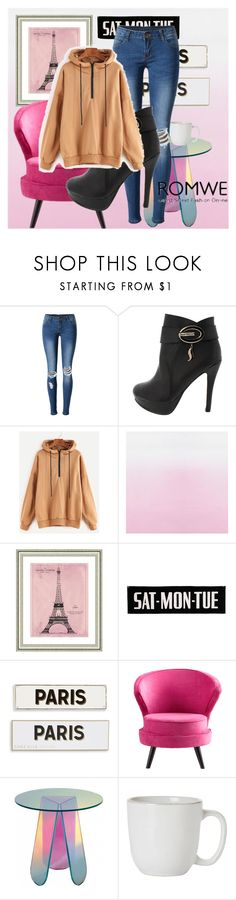 """Paris Apartment"" by russiasanlovesyou ❤ liked on Polyvore featuring WithChic, Vintage Print Gallery, Rosanna, Cyan Design and Juliska"