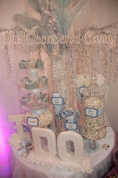 "candy buffet: don't mind if ""I do"" table"