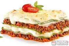 Receita de Lasanha à bolonhesa com creme de ricota em receitas de massas, veja essa e outras receitas aqui!