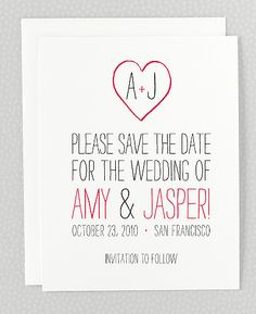Nice and simple - Big Day Save the Date Card