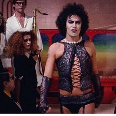 Rocky Horror Picture Show Tim Curry Rocky Horror, Rocky Horror Show, The Rocky Horror Picture Show, The Frankenstein, Tony Soprano, Glee Cast, Glam Rock, Movies Showing, Celebrity Weddings