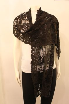 Black Lace Mourning Shawl by GeorgetteEtJosephine on Etsy, $25.00 Shawl, Trending Outfits, Lace, Unique Jewelry, Etsy, Vintage, Tops, Women, Fashion