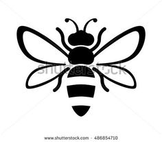 Graphic illustration of silhouette honey bee. Honey Stock Vector (Royalty Free) 486854710 - Graphic illustration of silhouette honey bee. Isolated on background vector drawing for honey produ - Bee Outline, Honey Bee Drawing, Bee Silhouette, Silhouette Portrait, Silhouette Vector, Bee Stencil, Stencils, Bee Images, Bee Embroidery