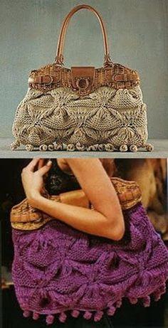 233c049e78b Bolsa de grife em crochê e tricô - faça você mesma