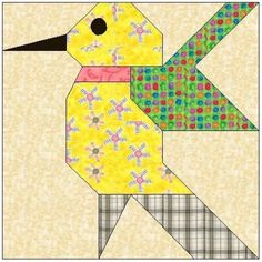 Charted Graph and Paper Piecing Quilt Block Patterns by AllStitches Log Cabin Quilt Pattern, Barn Quilt Patterns, Pattern Blocks, Quilting Projects, Quilting Designs, Paper Peicing Patterns, Bird Quilt Blocks, Painted Barn Quilts, Animal Quilts