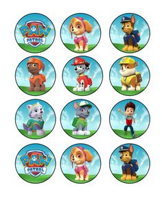 Paw Patrol Cupcake Toppers by WhimsicalByAnnette on Etsy