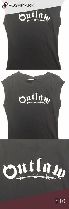 Outlaw short sleeve shirt Outlaw short sleeve shirt . Nice fitting around the body . Care neck. Good condition crisp black Tops Tees - Short Sleeve