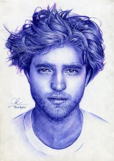 Robert Pattinson- ballpoint pen drawing by Thanh-KaMi on DeviantArt Cool Pencil Drawings, Pencil Drawings Of Animals, Ink Pen Drawings, Ink Pen Art, Ballpoint Pen Drawing, Robert Pattinson, Biro Portrait, Ballpen Drawing, Biro Drawing